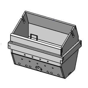 Pot de combustion complet en acier inox AISI 310 L POLAR AIR BOX PELLET 41401068740