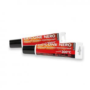 Tube silicone noir haute temperature 300° 150 ml