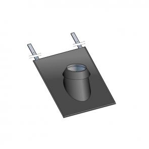Solin pour terminal vertical ardoises 15 à 30° peint noir avec collerette Poujoulat PGI 80/130 Ref.37080784