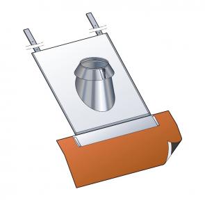 Solin inox tuiles 30 à 45° (kit étanchéité inclus) Poujoulat PGI 80/130 Ref.45130173