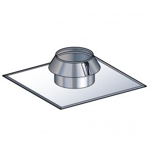 Solin inox toit plat avec collerette à joint Poujoulat PGI 80/130 Ref.45130169