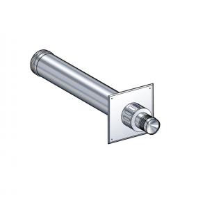 Terminal horizontal (avec plaque de propreté inox extérieure) Poujoulat PGI 80/130 Ref.37080782
