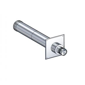 Terminal horizontal réglable de 42 à 72 cm (livré avec plaque de propreté inox extérieure) Poujoulat PGI 80/130 Ref.37080783
