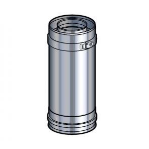 Elément droit 25 cm inox Poujoulat PGI 80/130 Ref.37080703
