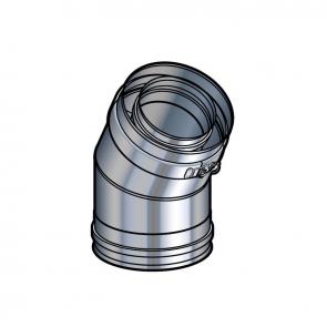 Coude 30° inox Poujoulat PGI 80/130 Ref.37080711