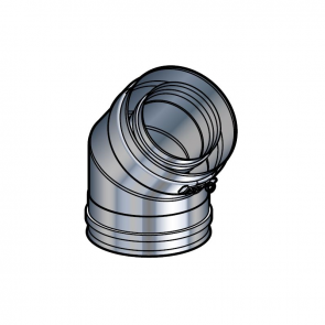 Coude 45° inox Poujoulat PGI 80/130 Ref.37080721