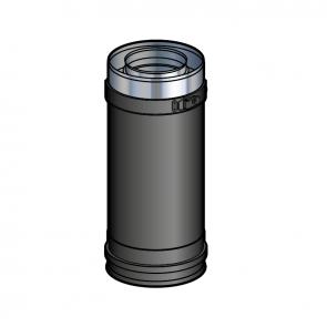 Elément droit 25 cm Noir Poujoulat PGI 80/130 Ref.37080703-9030