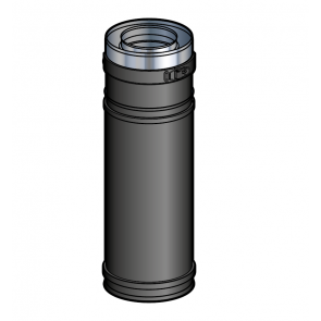 Elément réglable 39 à 56 cm Noir Poujoulat PGI 80/130 Ref.37080729-9030