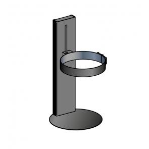Maintien au sol réglable 13 à 22 cm noir Poujoulat PGI 80/130 Ref.37080709-9030