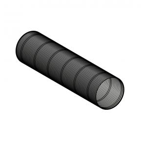 Galva flex (longueur 1 m) noir Ø 60 mm Poujoulat PGI 60 Ref.51060911