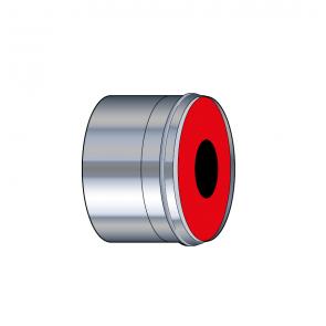 Adaptateur air étanche à membrane Øbuse air Ø 35-55 mm inox Poujoulat PGI 35-55 Ref.37060903