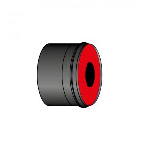 Adaptateur air étanche à membrane Øbuse air Ø 35-55 mm noir Poujoulat PGI 35-55 Ref.37060903-9030