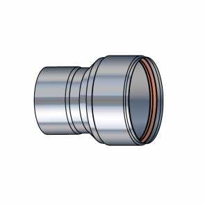 Adaptateur air étanche flexible Ø 60-80 mm buse inox Poujoulat PGI 60-80 Ref.37060912