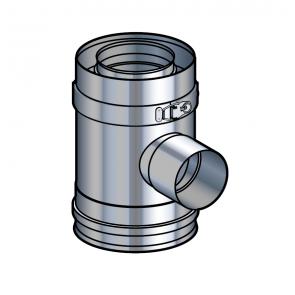 Elément prise d'air inox pour support sol réglable Poujoulat PGI 80/130 Ref.37080506