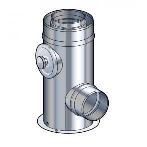Support au sol réglable de 10 à 25 cm Poujoulat PGI 80/130 Ref.37080508