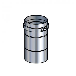 Adaptateur poêle inox  (préciser la marque du poêle) Poujoulat PGI 80/130 Ref.37080466