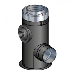 Support au sol noir réglable de 10 à 25 cm Poujoulat PGI 80/130 Ref.37080508-9030