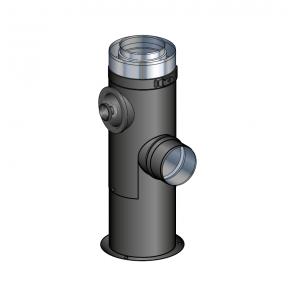 Support au sol noir réglable de 25 à 40 cm Poujoulat PGI 80/130 Ref.37080507-9030