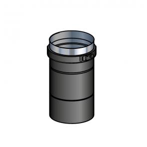 Adaptateur poêle noir  (préciser la marque du poêle) Poujoulat PGI 80/130 Ref.37080466-9030