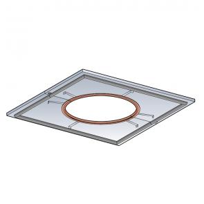 Plaque de distance de sécurité étanche (plafond droit) Poujoulat PGI 80/130 Ref.37080743