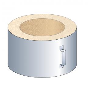 Coquille isolante (plafond) hauteur 33 cm Poujoulat PGI 80/130 Ref.37080744