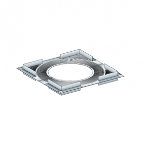 Plaque de distance de sécurité Poujoulat PGI 80/130 Poujoulat PGI 80/130 Ref.37080742