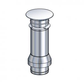 Terminal vertical inox grand modèle Poujoulat PGI 100/150 Ref.37100581