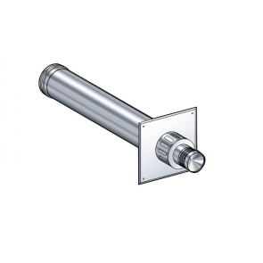 Terminal horizontal (avec plaque de propreté inox extérieure) Poujoulat PGI 100/150 Ref.37100451