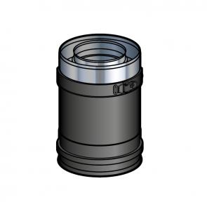 Elément droit 10 cm Noir Poujoulat PGI 100/150 Ref.37100202-9030