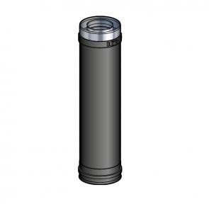 Elément droit 45 cm Noir Poujoulat PGI 100/150 Ref.37100404-9030