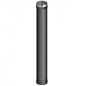 Elément droit 100 cm Noir Poujoulat PGI 100/150 Ref.37100405-9030