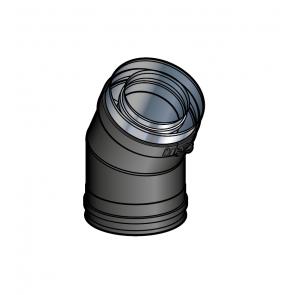 Coude 30° Noir Poujoulat PGI 100/150 Ref.37100411-9030
