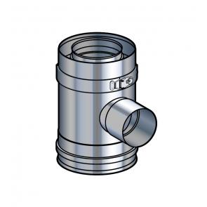 Elément droit prise d'air 90° inox Poujoulat PGI 100/150 Ref.37100408