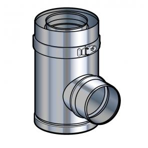 Té à piquage réduit inox Poujoulat PGI 100/150 Ref.37100449