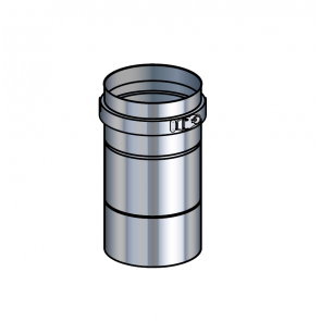 Adaptateur poêle inox  (préciser la marque du poêle) Poujoulat PGI 100/150 Ref.37100466