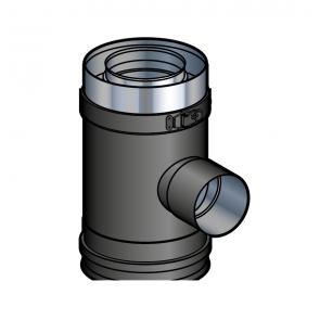 Elément prise d'air noir pour support sol réglable Poujoulat PGI 100/150 Ref.37100506-9030