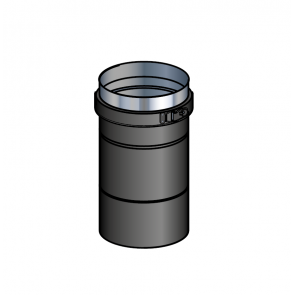 Adaptateur poêle noir  (préciser la marque du poêle) Poujoulat PGI 100/150 Ref.37100466-9030