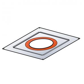 Plaque de distance de sécurité étanche (plafond rampant) 0-40% Poujoulat PGI 100/150 Ref.37100413