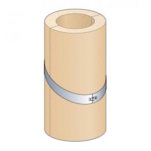 Coquille isolante plafond rampant pente 0-40% (hauteur 50 cm) Poujoulat PGI 100/150 Ref.37100485