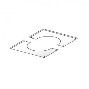Plaque de propreté blanche pour PDSER pente 41-80% Poujoulat PGI 100/150 Ref.37100423