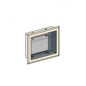 Grille de ventilation coffrage 16x16 cm Poujoulat Poujoulat PGI 100/150 Ref.55000278