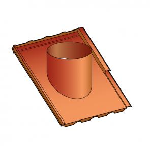 Embase d'étanchéité pour tuiles et couverture acier ondulée nervurée  Poujoulat PGI 80/130 Ref.ESIT80