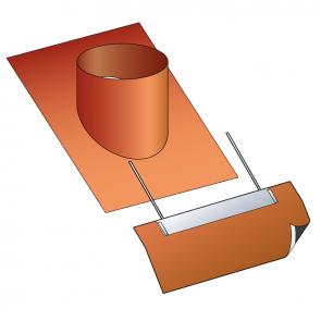 Embase d'étanchéité avec kit d'étanchéité  Poujoulat PGI 80/130 Ref.ESIU80