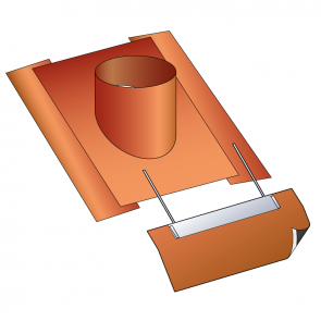 Embase d'étanchéité spéciale tuiles tige de botte Poujoulat PGI 100/150 Ref.ESIT005100