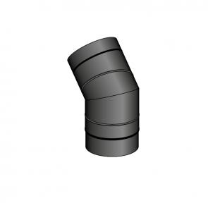 Coude 45° air diamètre 60 Poujoulat PGI