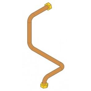 Pièces CADEL Tuyau de refoulement eau chauffage - avec circulateur à haut remdement 41501203400