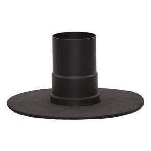 Rosace UNICO noire Diametre  100 mm (Diametre  EXT 250) pour poele a pellets