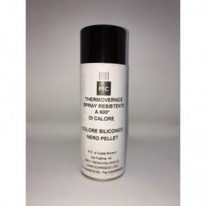 Spray peinture noir pellet pour retouches pour poele a pellets