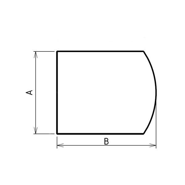 Plaque de sol sur mesures arrondie largeur hauteur