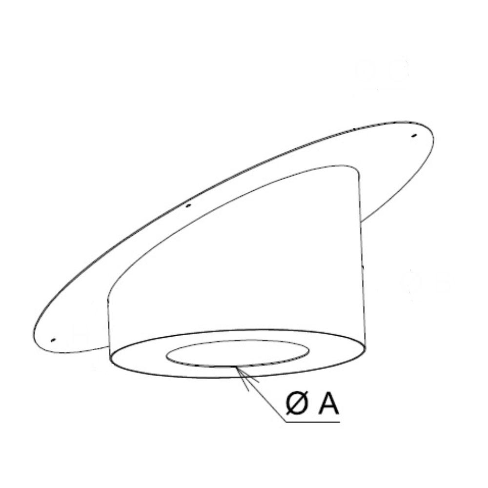 Diamètre perçage cache conduit sous rampant rond